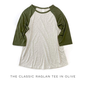 The Classic Raglan Tee in Olive