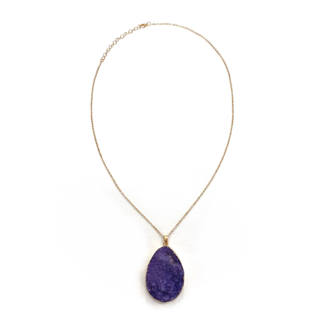 Styled With Druzy Necklace in Purple