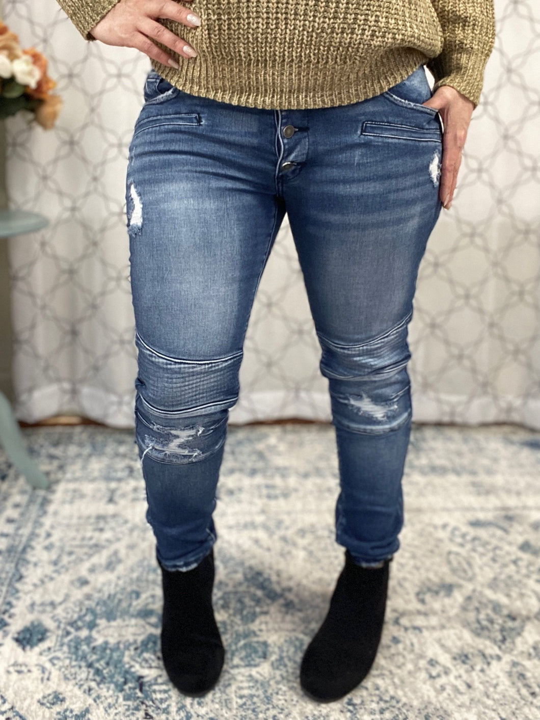 Crazy for You KanCan Moto Jeans