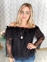 Load image into Gallery viewer, Lace Dreams Top in Black