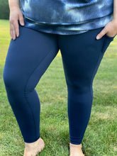 Load image into Gallery viewer, On The Go Leggings in Navy