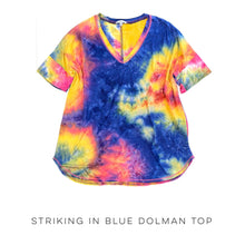 Load image into Gallery viewer, Striking in Blue Dolman Top