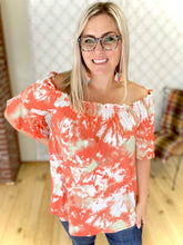 Load image into Gallery viewer, Coral Vibes Off Shoulder Top