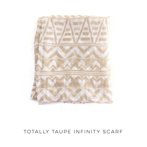 Totally Taupe Infinity Scarf