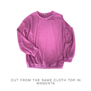 Cut From The Same Cloth Top in Magenta