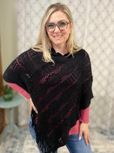 Load image into Gallery viewer, DOORBUSTER My Crochet Poncho in Black!