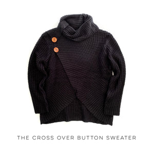 The Cross Over Button Sweater