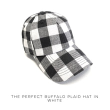 Load image into Gallery viewer, The Perfect Buffalo Plaid Hat in White