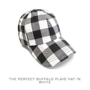 The Perfect Buffalo Plaid Hat in White