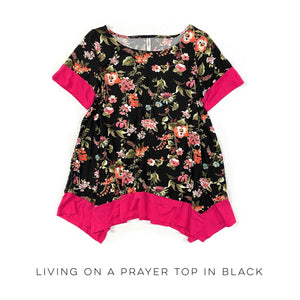 Living on a Prayer Top in Black