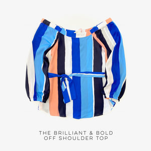 The Brilliant & Bold Off-Shoulder Top