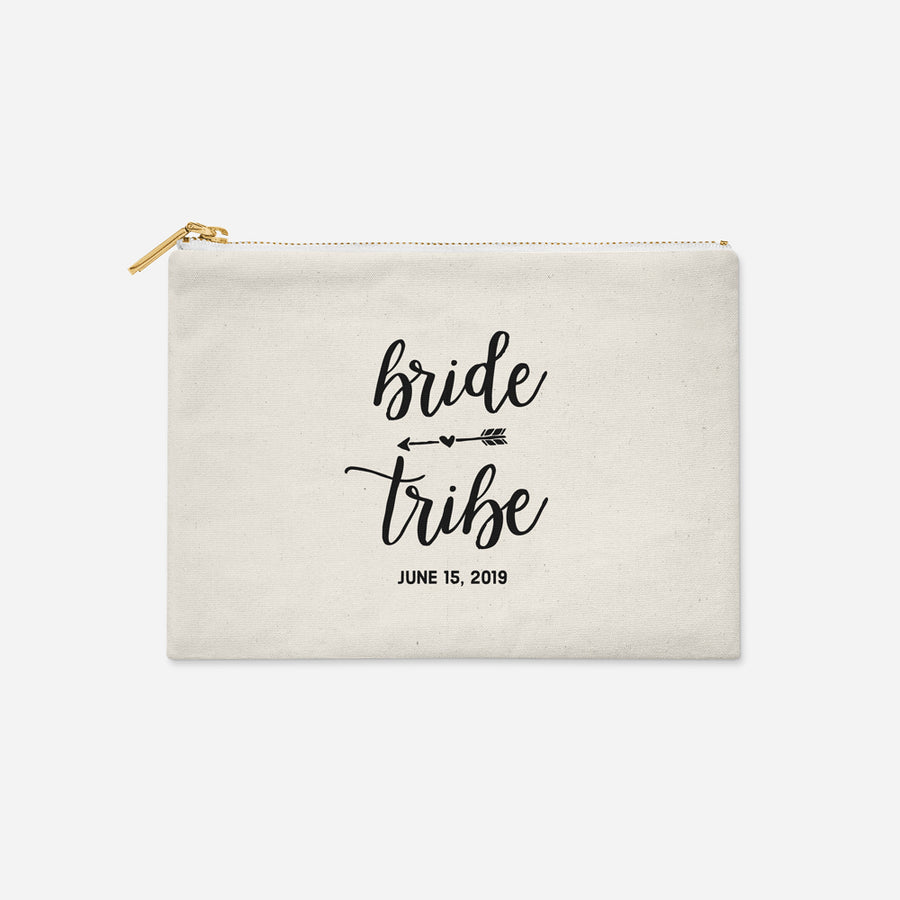 Personalized Bride Tribe Make Up Bag