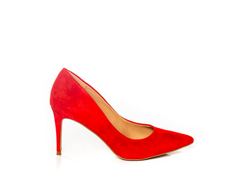 LILLIE RED SUEDE