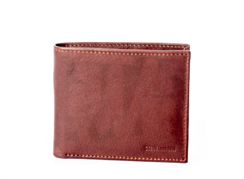 LEATHER BILLFOLD BROWN