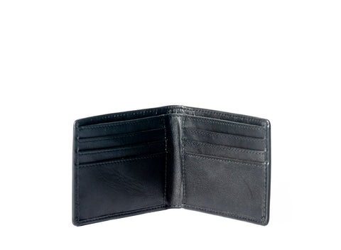 LEATHER BILLFOLD BLACK