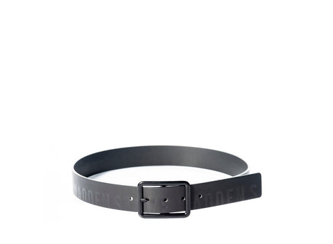 SM LOGO BELT BLACK