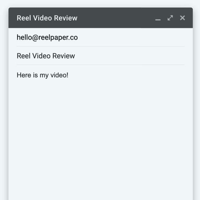 Email Your Video