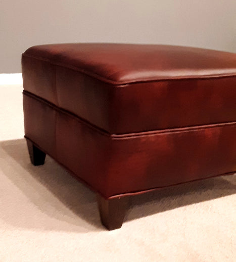 535-00 Nantucket Leather Ottoman