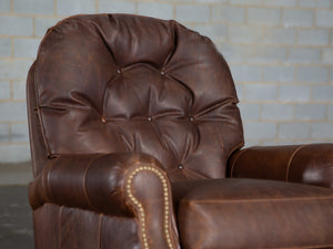 395-R1 Burmill Leather Recliner