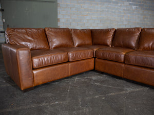 420-LR Miami L-Shape Leather Sectional