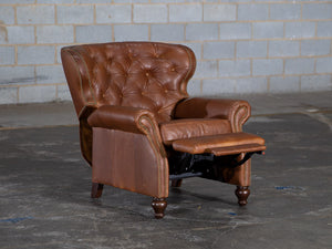 66-R1 Standish Leather Recliner