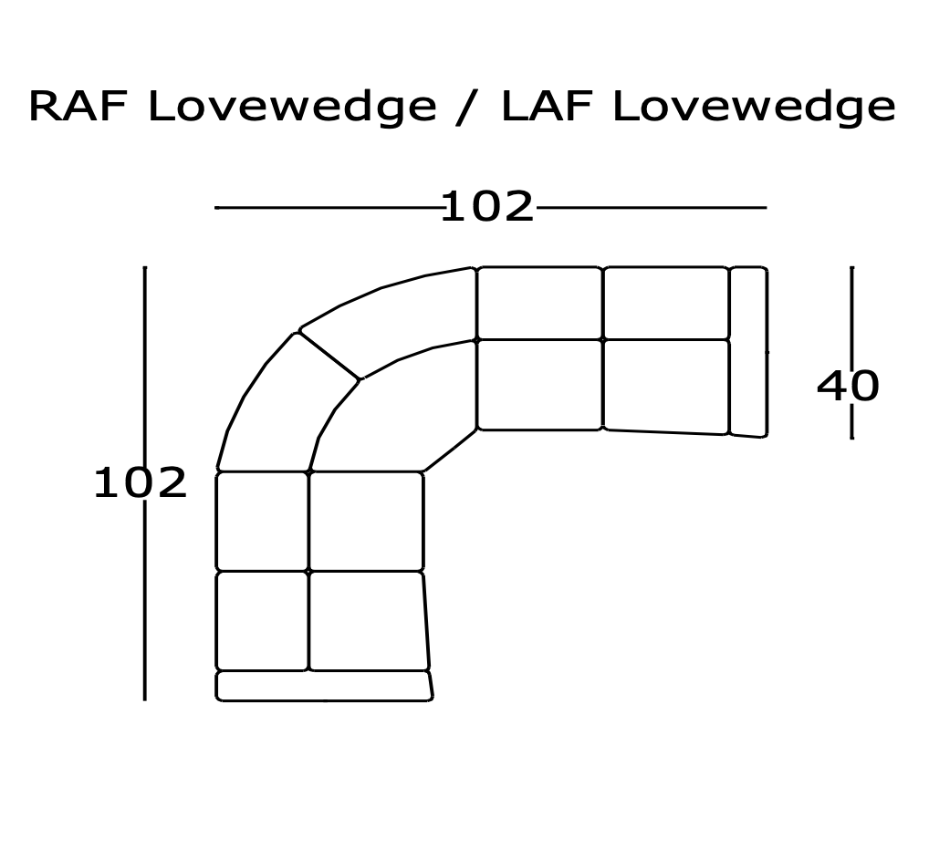 881- Love Wedge (Built in 2 Pc's)