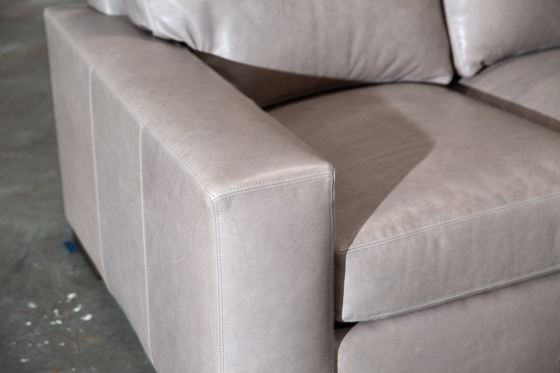 424-LL Lux L-Shape Leather Sectional