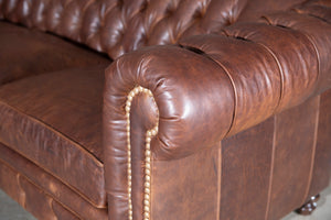 607 L-Shape Leather Sectional (long left)
