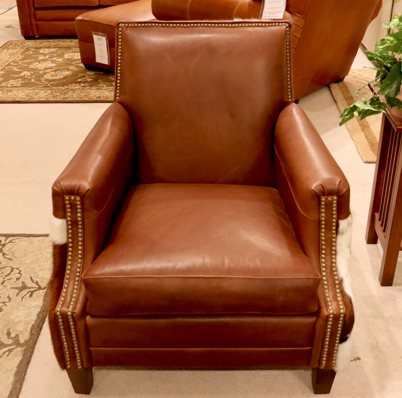 1460 Leather Chair with Hair on Hide - Factory Outlet