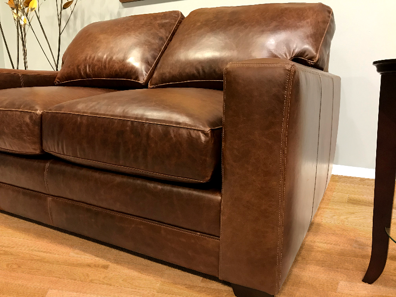 550-03 Restoration Leather Sofa