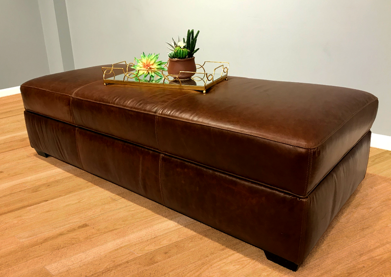550-50 Restoration Bench Leather Ottoman with Storage