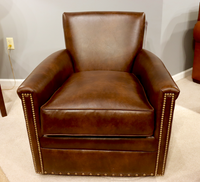 132 Alexander Leather Swivel Chair