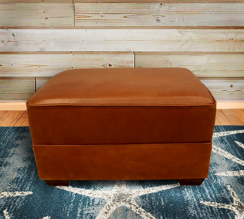 554-00 Tanner Leather Ottoman