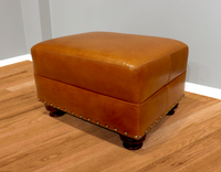 592-00 Bailey Leather Ottoman