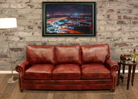 535-03 Nantucket Leather Sofa