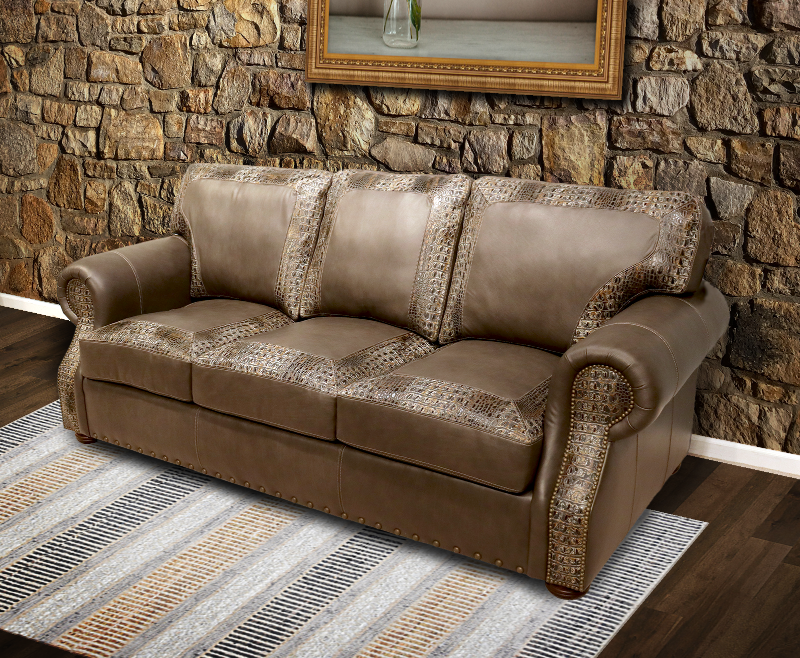 240 Harrison Leather Sofa - Factory Outlet