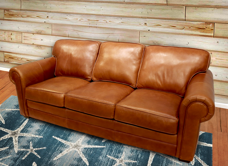 554-03 Tanner Leather Sofa