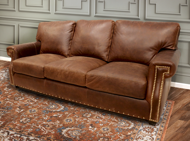 270-03 Hancock Leather Sofa
