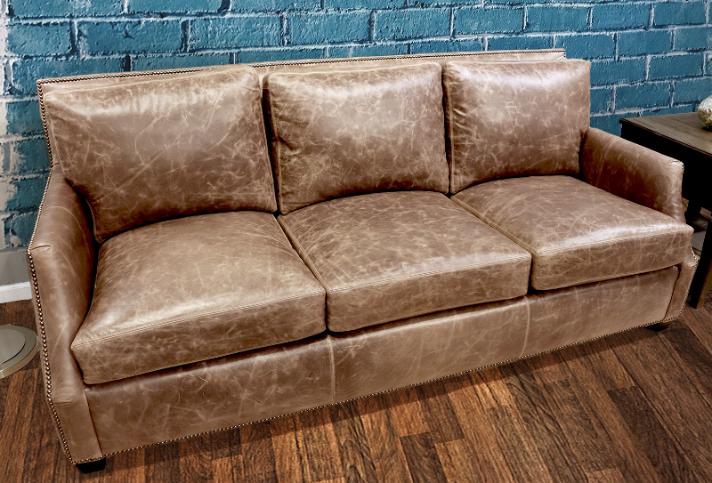 232 Genesis Leather Sofa - Factory Outlet