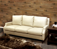 4224-03 Fox Leather Sofa