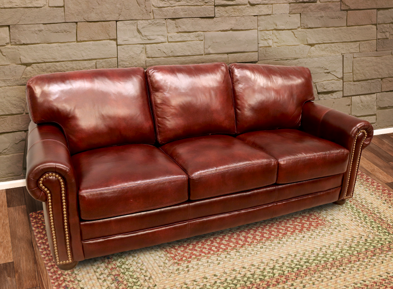 365-03 Deacon Leather Sofa