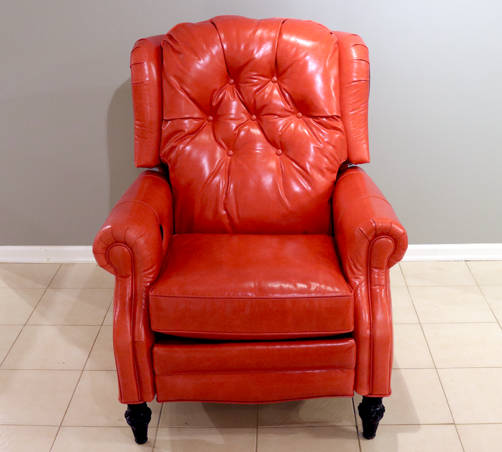 375 Hampton Leather Powered Recliner - Factory Outlet