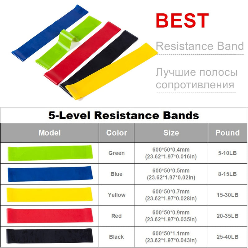 Resistance Bands Set 17 In 1 | Home Gym | Pull Rope Fitness Exercises  | Training, Yoga, Gym, Fitness Equipment - Somehow Summer