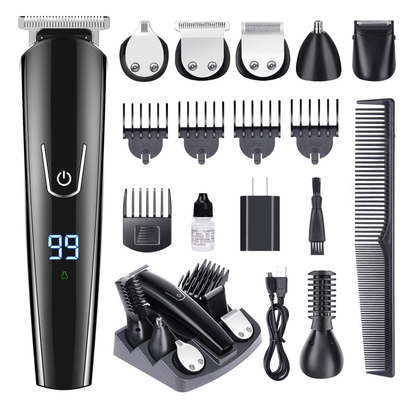 Hair trimmer Professional hair clipper electric hair clipper electric shaver beard trimmer man shaving machine cut nose electric - Somehow Summer