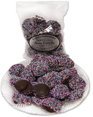 Dark Chocolate Easter Non Pareils (4 oz)