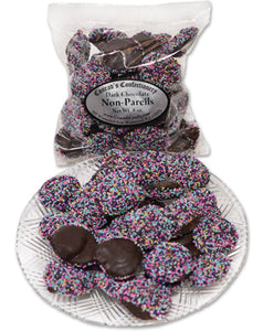 Dark Chocolate Easter Non Pareils (8 oz) - Conrad's Confectionery