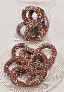 Milk Chocolate Big Pretzels Two Pack - Conrad's Confectionery