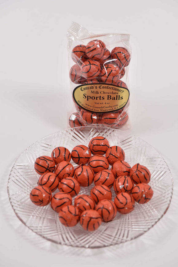 Milk Chocolate Foil Basketball - Conrad's Confectionery