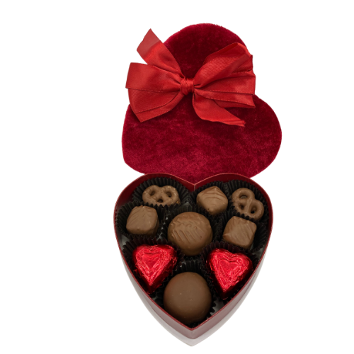 #4 All Milk Chocolate Valentine's Day Assortment in Heart Shaped Box