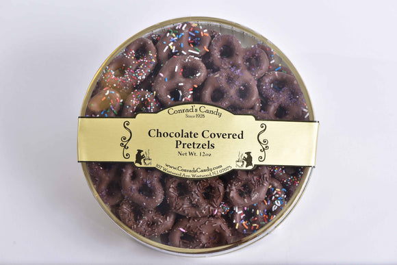 Milk Chocolate Covered Pretzels Round
